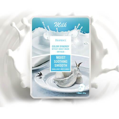 DEOPROCE Color Synergy Mask SKYBLUE: Milk and Swallow's Nest,1pc