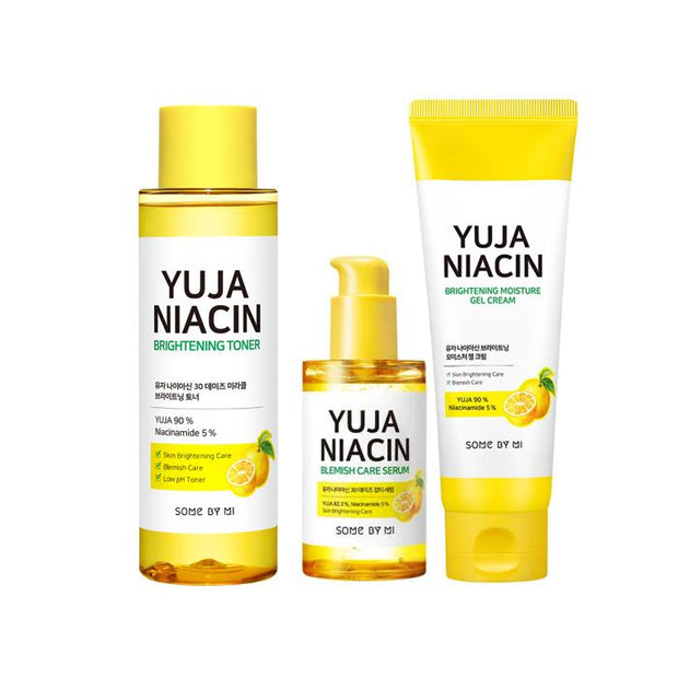 Somebymi Yuja Niacin Brightening TRIO SET (Toner+serum+Gel Cream)
