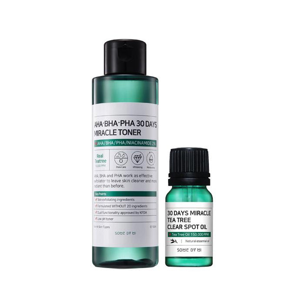 Somebymi Miracle Toner 150ml + Miracle Tea Tree Clear Spot Oil 10ml