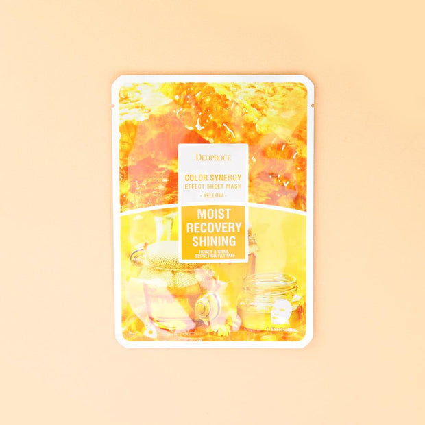 DEOPROCE Color Synergy Mask YELLOW: Honey and Snail Mucin,1pc