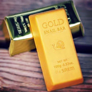 The Saem 24k Gold Snail Bar, 100g (whitening)