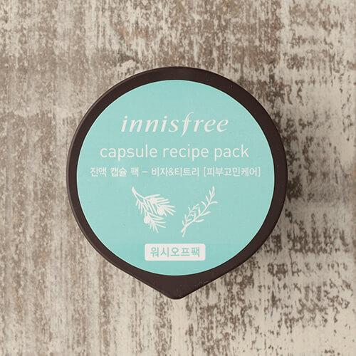 Innisfree Capsule TEA TREE Trouble Recipe Pack 10ml (Wash Off Pack)