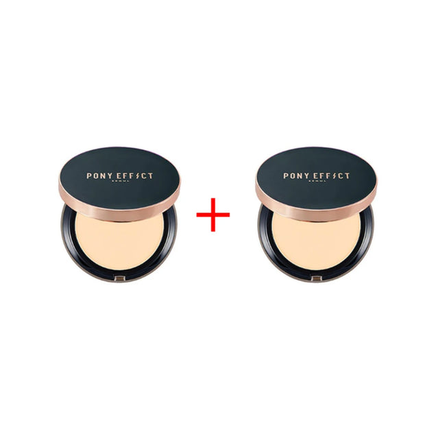 [1+1 PROMO] Pony Effect Cover Fit Powder Foundation, spf40/pa+++