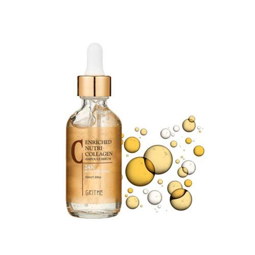 GRITME C Enriched Nutri COLLAGEN Ampoule Serum with 24k 99.9% Gold, 50ml