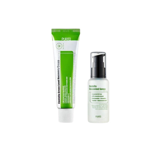PURITO Centella Green Level Recovery Cream + Centella Unscented Serum DUO SET