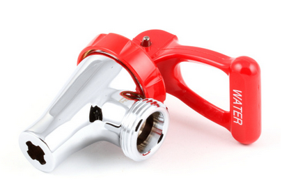 07094.0000 BUNN FAUCET,CRM-RED HDL SELF-CLOSE