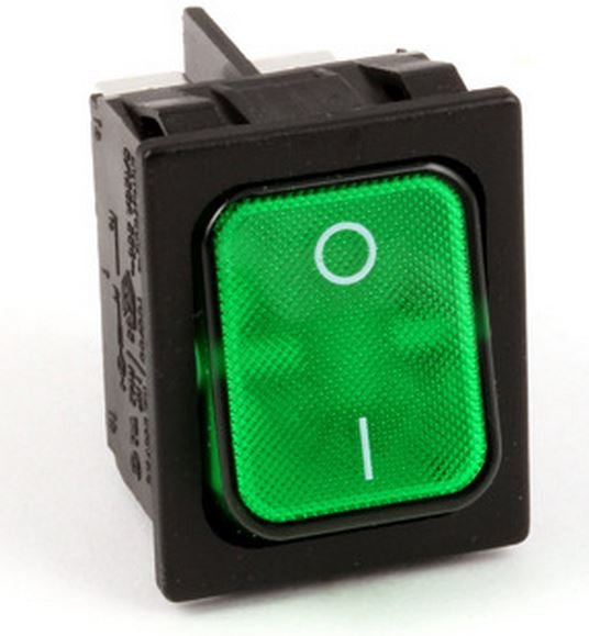 27511SP LINCOLN ROCKER SWITCH GREEN LIGHTED