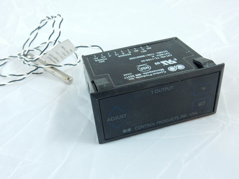 TC-110S-24 CONTROL PRODUCTS SINGLE RELAY TEMP CONTROLLER, 24VAC