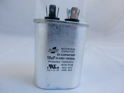 S1-CAP44100F SOURCE ONE SINGLE RUN CAPACITOR 10uF/440V