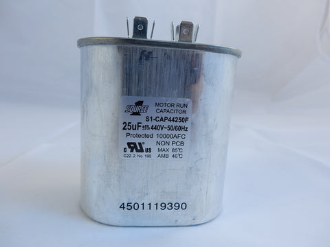 S1-CAP44250F SOURCE ONE SINGLE RUN CAPACITOR 25uF/440V