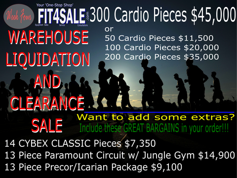 300 Piece Cardio Package $45,000