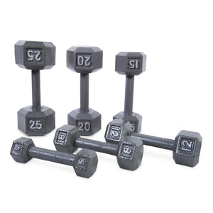 CAP Cast Iron Hex Dumbbell