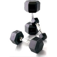 Malibu Rubber Coated Hex Dumbbell Set