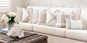 Mirage Haven Jute and White Luxury Cushions Wholesale