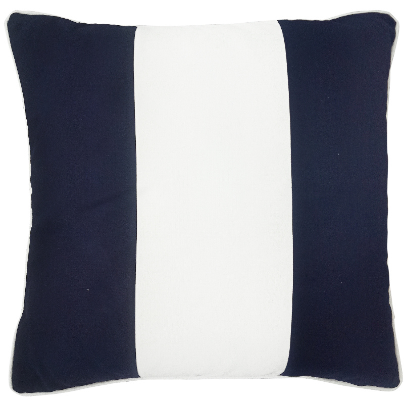 Mirage Haven KIRRA Dark Blue and White Panel Outdoor Cushion Cover