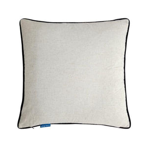 Mirage Haven FLYNN Black and Jute Reversible Velvet Cushion Cover 55 cm by 55 cm