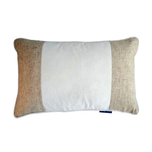 Mirage Haven EASTWOOD White and Jute Panel Cushion Cover 30 cm by 50 cm