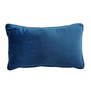 Mirage Haven AGERY Dark Blue Plain Velvet Cushion Cover 30 cm by 50 cm