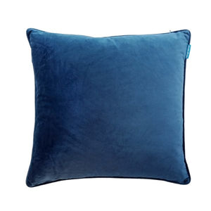 Mirage Haven AGERY Dark Blue Plain Velvet Cushion Cover 55 cm by 55 cm