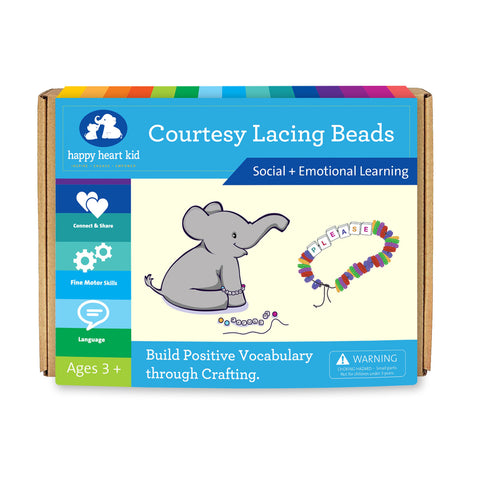 Courtesy Lacing Beads - Happy Heart Kid
