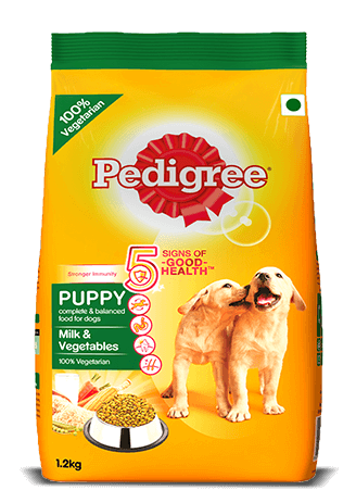Pedigree Puppy Dry Dog Food, Milk and Vegetable 1.2kg - Pet Chum