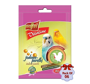 Vitaline Iodine Pearls for BIRDS - 20gms - Pet Chum