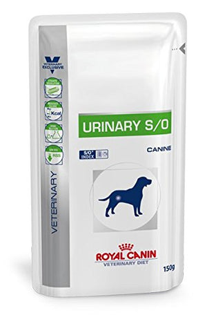 Royal Canin Urinary S/O Canine Dog Food 10 x 150 gm Pouches - Pet Chum