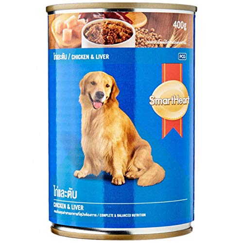 SmartHeart Chicken & Liver Canned Adult | 24 X 400 G - Pet Chum
