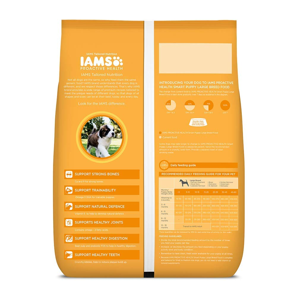 IAMS Proactive Health Smart Puppy Large Dry Dog Food - Pet Chum