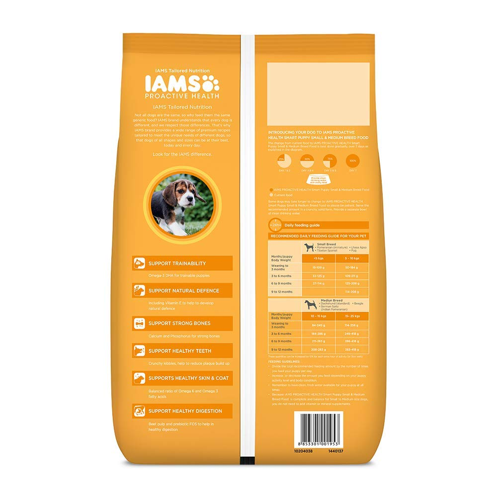 IAMS Proactive Health Smart Puppy Small & Medium Breed Dogs (<1 Years) Dry Dog Food - Pet Chum