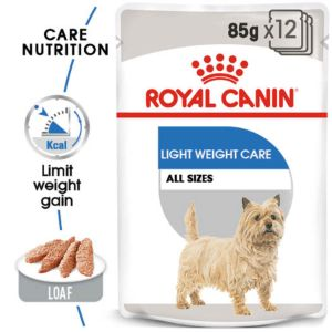 ROYAL CANIN Canine Care Nutrition Light Weight Care Wet Pouches Dog Food 12 x 85g - Pet Chum
