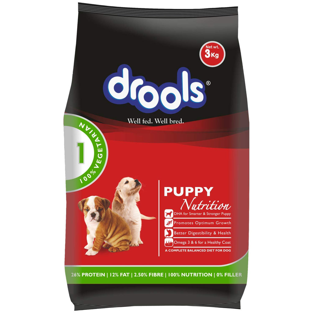 Drools 100% Vegetarian Puppy Dog Food - Pet Chum