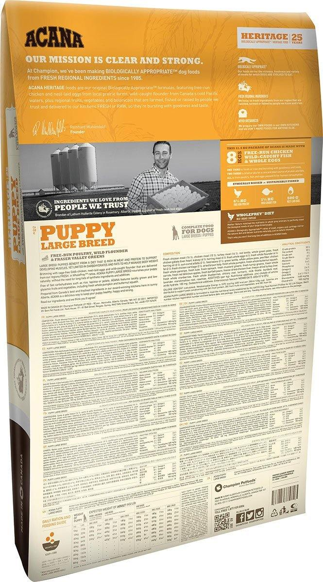 Acana Puppy Large Breed Dog Food - Pet Chum