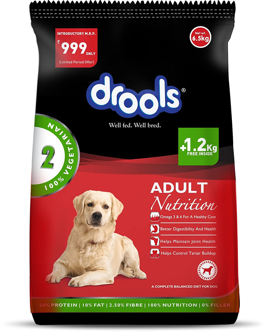 Drools 100% Vegetarian Adult Dog Food - Pet Chum