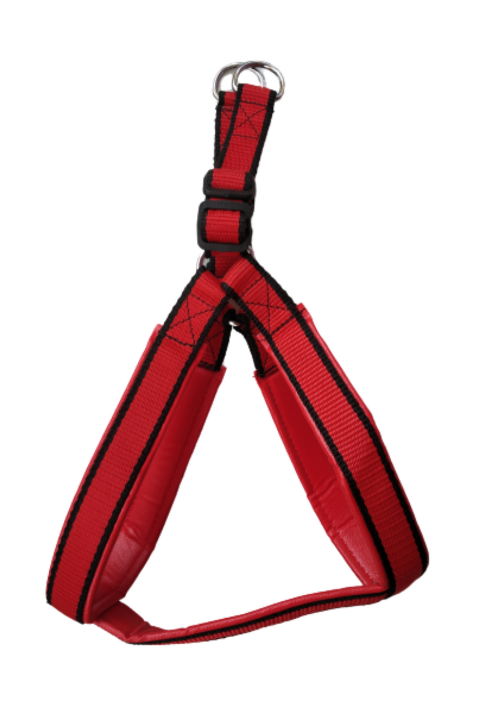 Nylon Padded Adjustable Dog Harness | Red | Blue