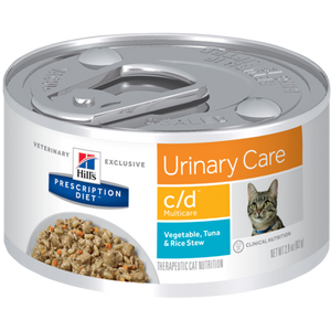 Hill's® Prescription Diet® c/d® Multicare Feline Vegetable, Tuna & Rice Stew | Pack of 24 - Pet Chum