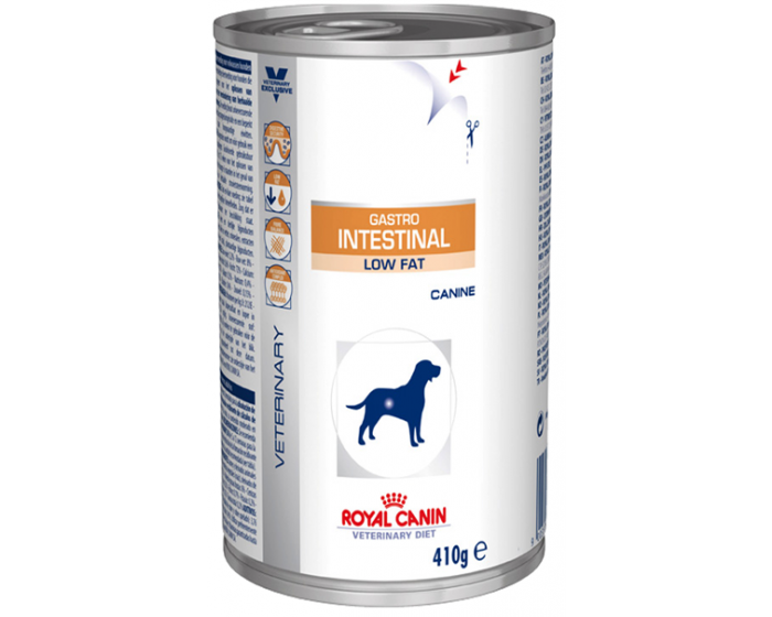 Royal Canin Veterinary Diet Wet Gastro Intestinal Low Fat Dog Food 410 gm - Pet Chum