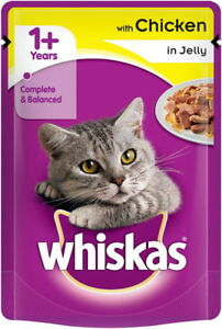Whiskas Chicken In Jelly Adult Wet Cat Food 1+ | (12 x 85g)