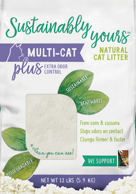 Sustainably Yours Multi-Cat Plus Natural Cat Litter