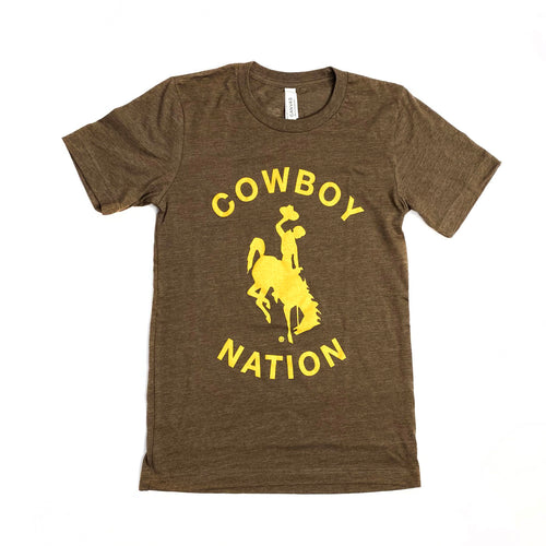 Cowboy Nation Tee - Heather Brown