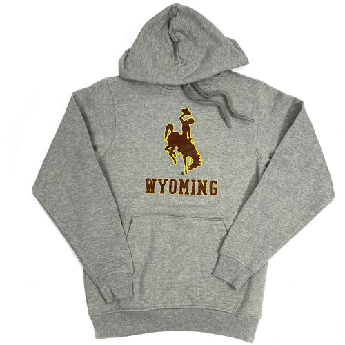 Unisex Steamboat Wyoming Fleece Hoodie - Charcoal Heather