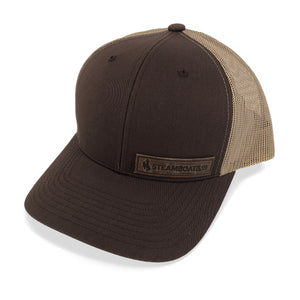 Steamboat & Co. Leather Patch Trucker - Brown