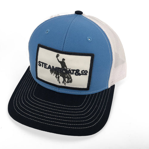 Steamboat & Co Patch Trucker Hat - Blue/White