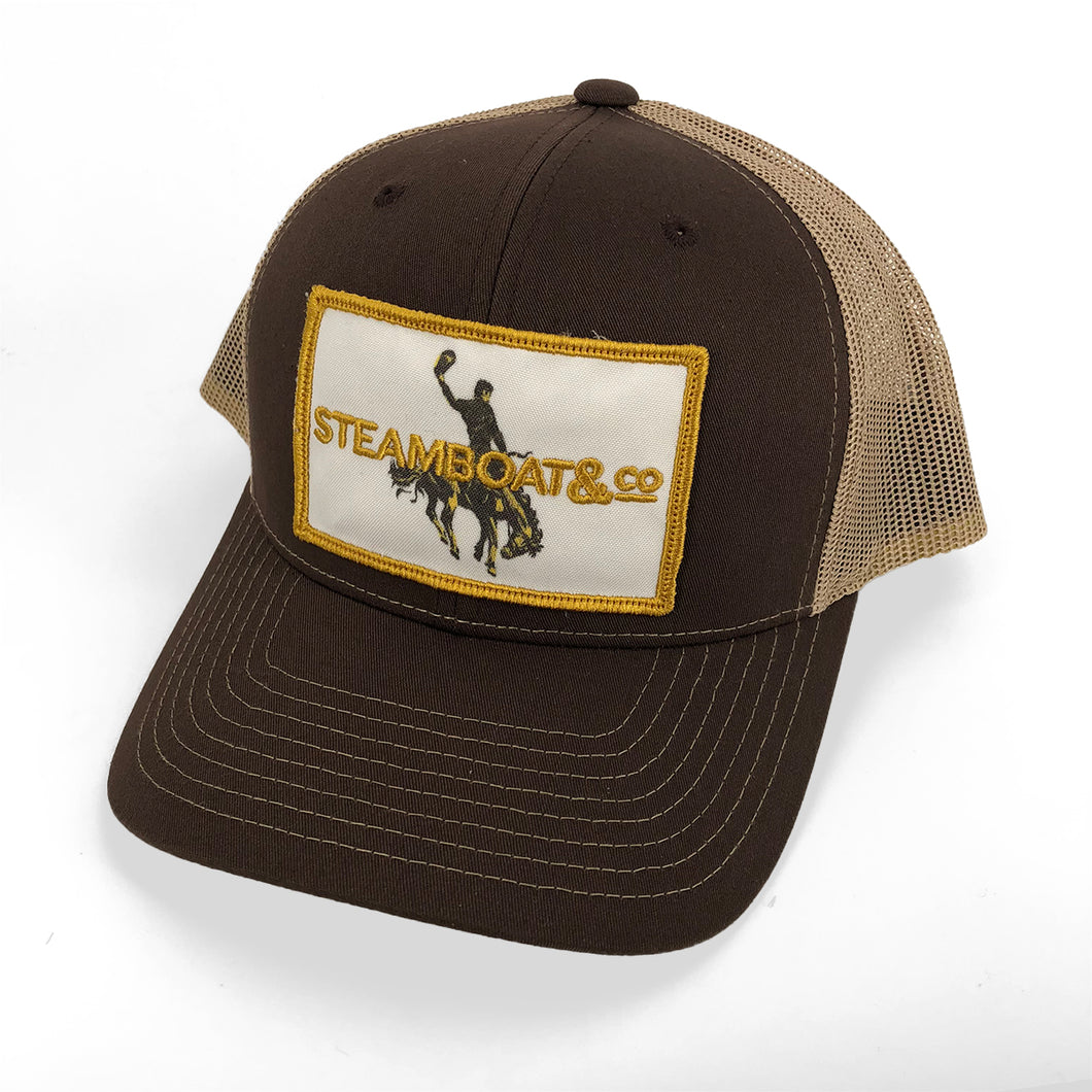 Steamboat & Co Patch Trucker Hat - Brown & Gold