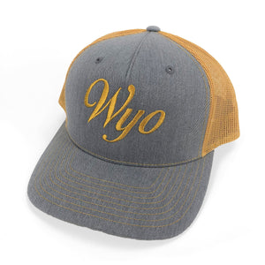 Wyo Script Hat - Heather Grey/Gold