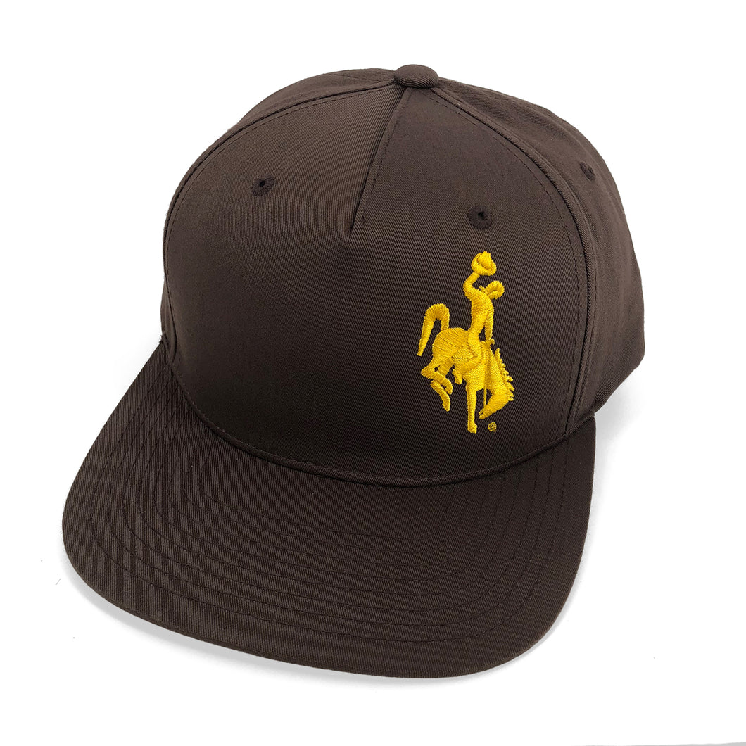 Steamboat Snap Back Hat - Brown & Gold
