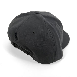 Cowboys Script Flat Bill Hat - Dark Grey