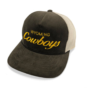 Vintage Cowboys Corduroy Trucker Hat - Brown