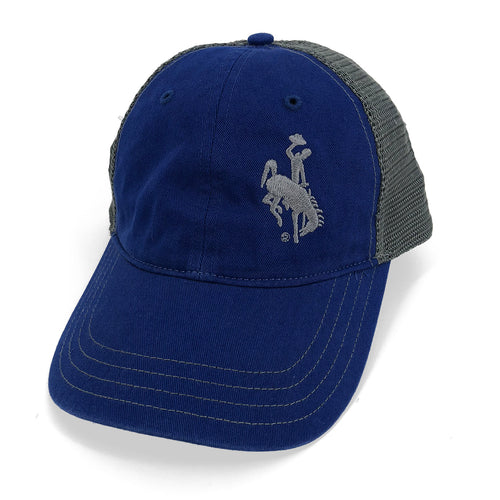 Steamboat Unstructured Trucker Hat - Royal Blue/Grey