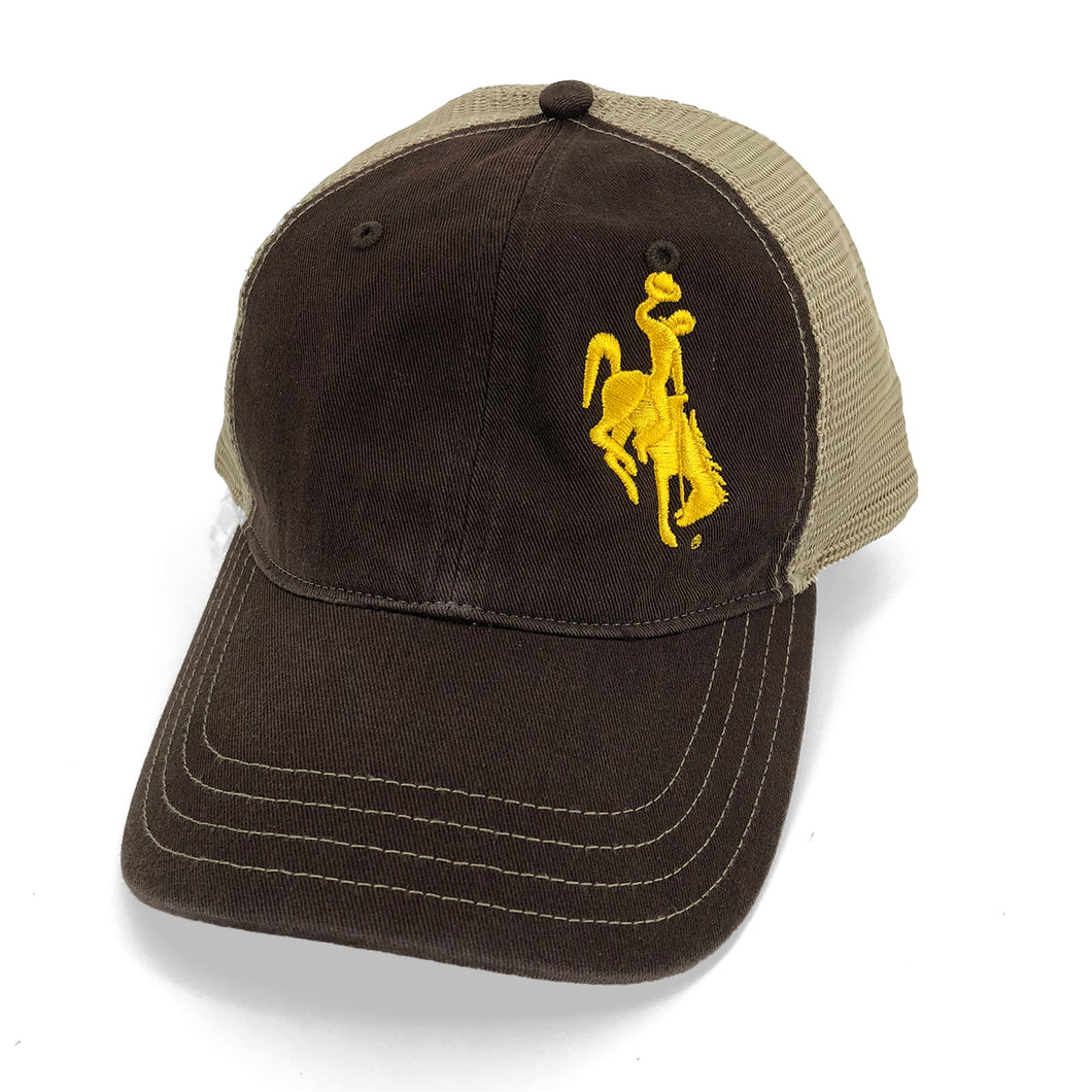 Steamboat Unstructured Trucker Hat - Brown/Khahki